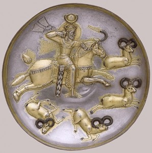 بشقاب شکار قوچ ساسانی