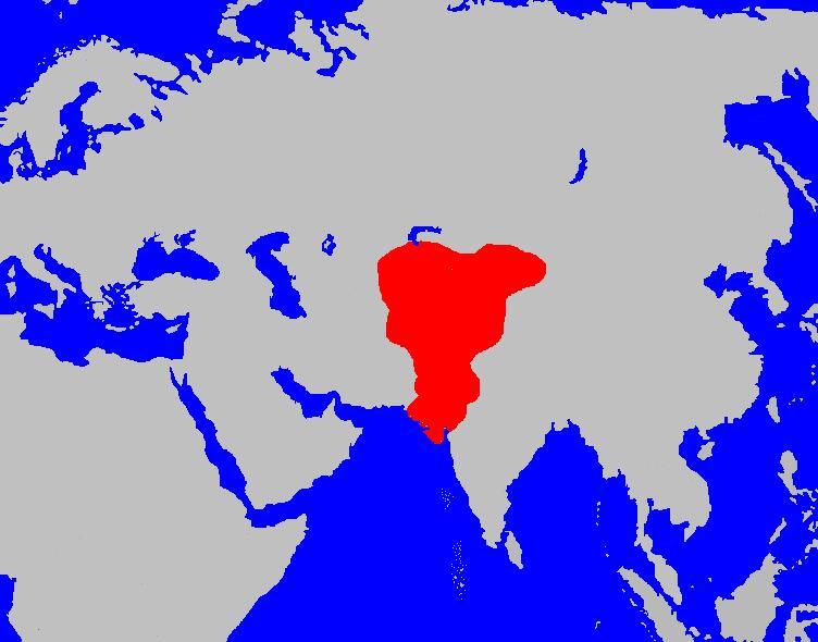 قلمرو هفتالیان در 520 میلادی