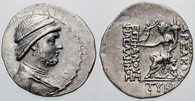 طراحی سکه اشکانی