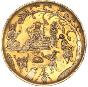 بشقاب نوازندگان ساسانی