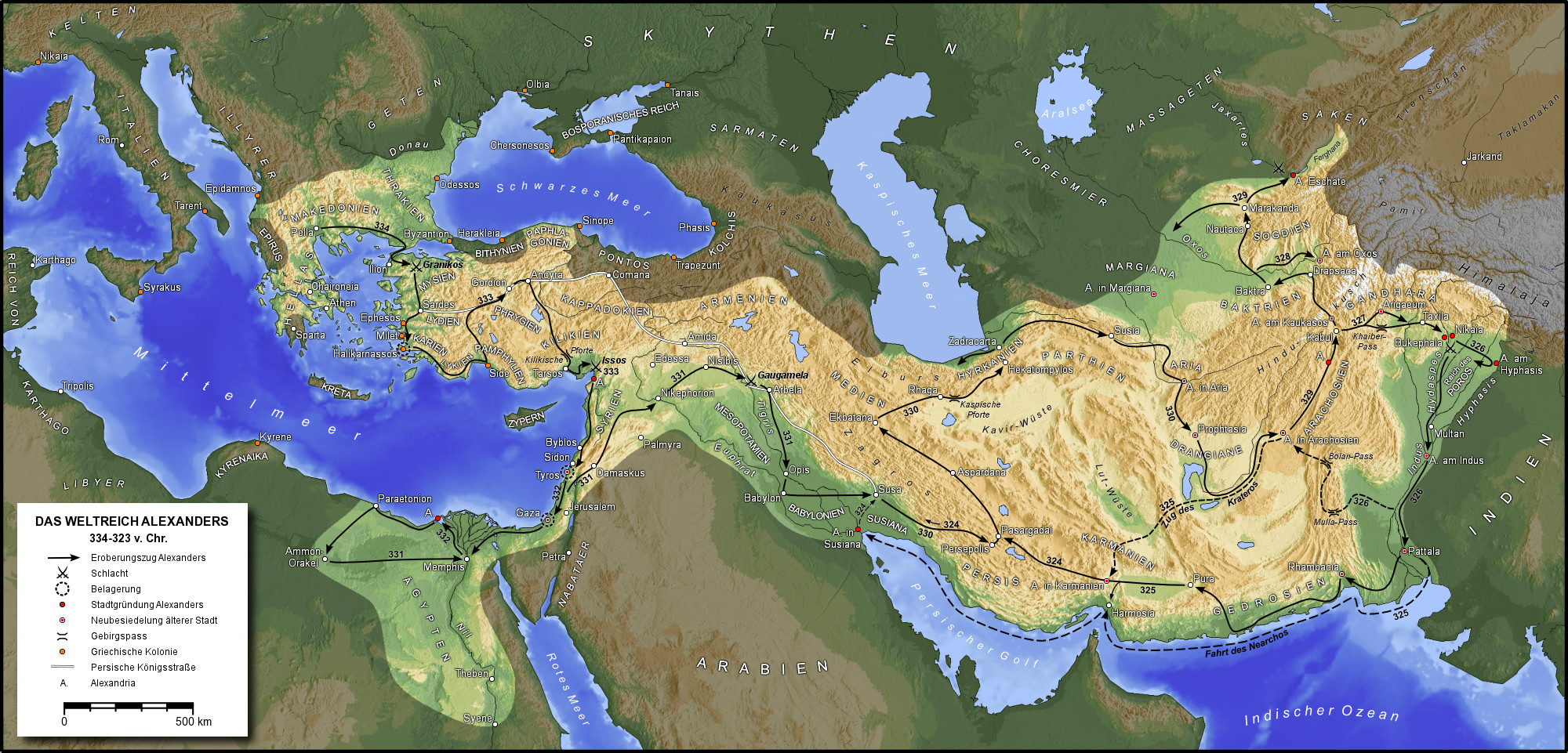آخرین نبردهای هخامنشیان با اسکندر مقدونی