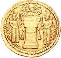 تصویر ایزدان روی سکه های ساسانی