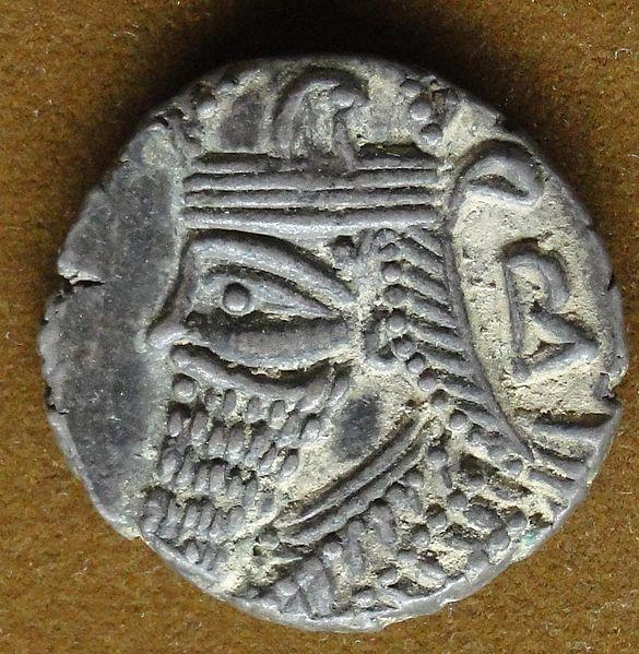 سکه های اشکانی-سکه نقره بلاش پنجم