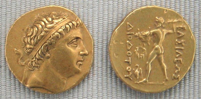 سکه دیودوت یکم موسس دولت یونانی بلخ (باکتریا)