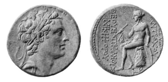 سکه های سلوکی-سکه آنتیوخوس چهارم