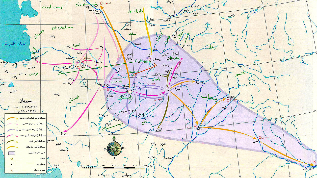 قلمرو دودمان تاجیک-ایرانی غوریان