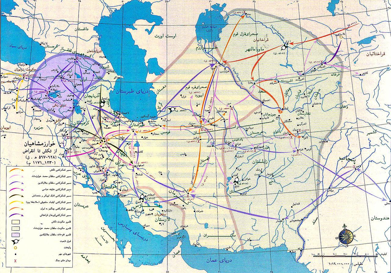 نقشه خوارزمشاهیان
