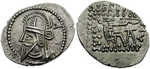 سکه های اشکانیان-سکه بلاش ششم